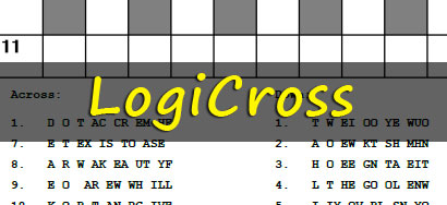 image relating to Printable Puzzles Com Answers named Printable Puzzles - Logicross Puzzles
