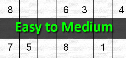 graphic regarding Medium Sudoku Printable named Printable Sudoku Puzzles
